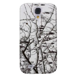 träd med snö galaxy s4 fodral