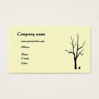 Träd- och kaninSilhouette Visitkort