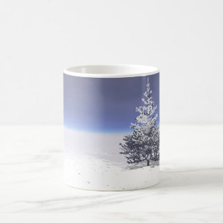 träd- och snövit kaffemugg