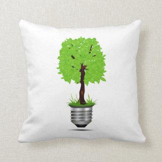 träd som är grafiskt i lightbulb, baserar ekologi kudde