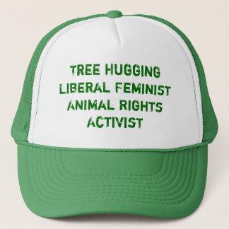 Träd som kramar frisinnade feministiska djurens truckerkeps