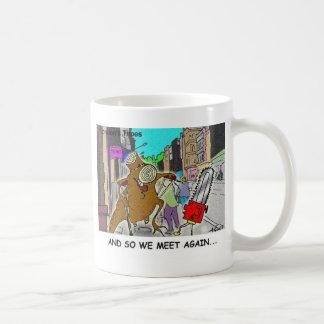 Träd Vs kedjar sågar roliga stackLondon gåvor Kaffemugg