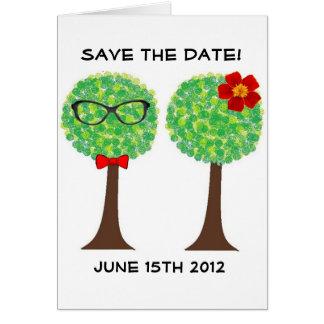 Trädbröllopkort Hälsningskort