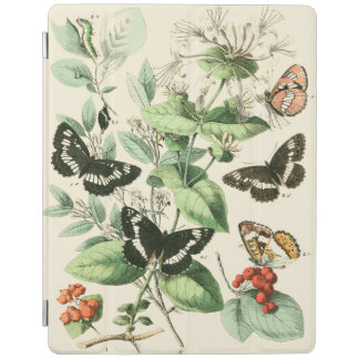 Trädgård av fjärilar och blommor iPad skydd
