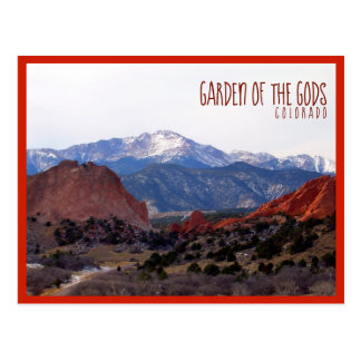 Trädgård av gudarna (Colorado) med text Vykort