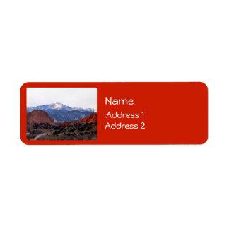 Trädgård av gudarna (Colorado) Returadress Etikett