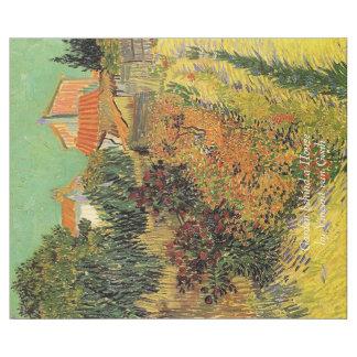 Trädgård bak ett hus av Van Gogh. Vintage Presentpapper