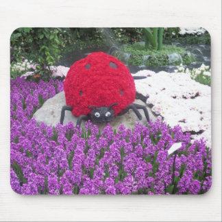 Trädgård för fjäril för LadyLUCK nyckelpigablommor Mus Mattor
