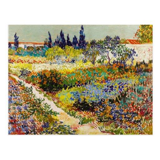Trädgård i Arles Vykort