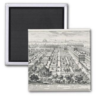 Trädgårdar av Quirinalen, från 'Li Giardini di ROM Magnet