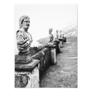 Trädgårdarna av villaCimbrone sjölandskap, italien Fototryck