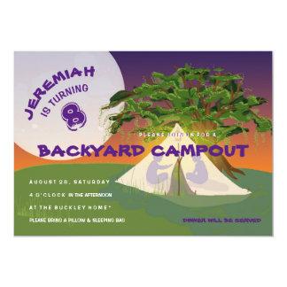 TrädgårdCampoutbarn som campar födelsedagsfesten 12,7 X 17,8 Cm Inbjudningskort
