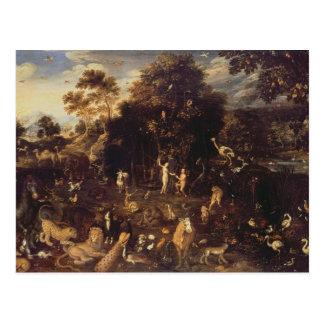 Trädgården av Eden Vykort