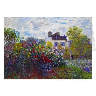Trädgården av Monet på Argenteuil Claude Monet OBS Kort
