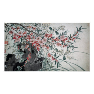 Trädgården blommar efter Chen Chun Poster