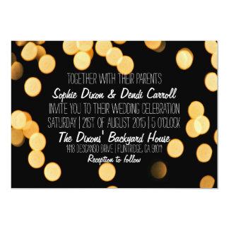Trädgården Bokeh tänder bröllopinbjudan 12,7 X 17,8 Cm Inbjudningskort