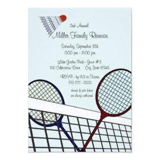 TrädgårdGames/Badminton 12,7 X 17,8 Cm Inbjudningskort