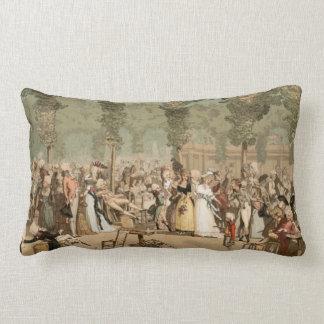 Trädgårds- 1700s Palais Royal för franska Lumbarkudde