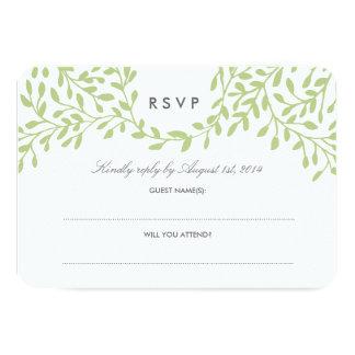 Trädgårds- bröllop OSA för hemlighet - grönt 8,9 X 12,7 Cm Inbjudningskort