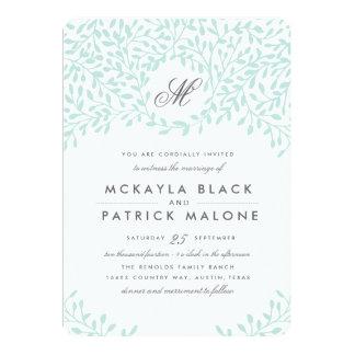 Trädgårds- bröllopinbjudan för hemlighet - Mint 12,7 X 17,8 Cm Inbjudningskort