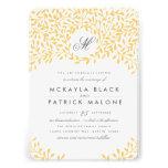 Trädgårds- bröllopinbjudan för hemlighet - senap inbjudningskort