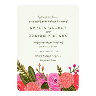 Trädgårds- bröllopinbjudan för vintage 12,7 x 17,8 cm inbjudningskort