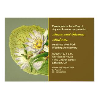 trädgårds- bröllopsdag 12,7 x 17,8 cm inbjudningskort