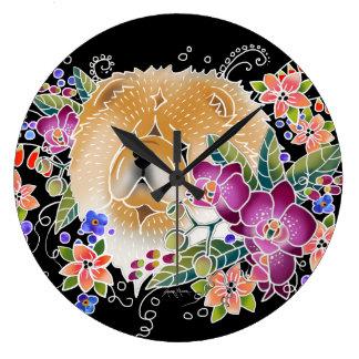 TRÄDGÅRDS- DANSChow - väggen Clock väljer Stor Klocka