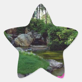 Trädgårds- dekorativt för japan stjärnformat klistermärke