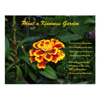 Trädgårds- diktvykort för vänlighet vykort