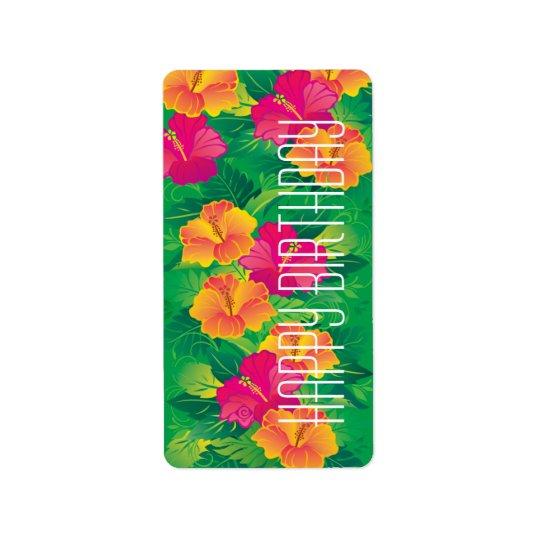 trädgårds- ~-etikett för hibiskus adressetikett