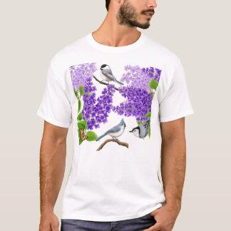 Trädgårds- fåglar för trädgård i lilaskjorta tröjor