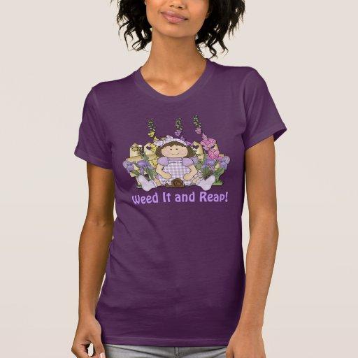 Trädgårds- flickahumor t-shirt