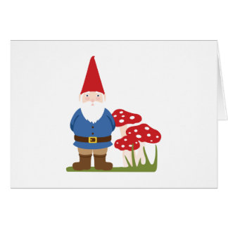 Trädgårds- Gnome Hälsningskort