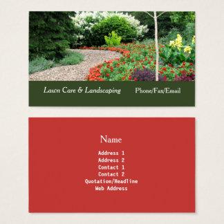 Trädgårds- gräsmatta för engelska & visitkort
