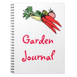 Trädgårds- journal anteckningsbok
