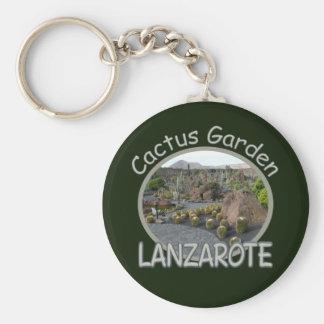 Trädgårds- keychain för kaktus rund nyckelring