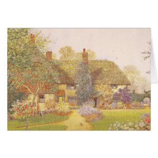 Trädgårds- konst för vintage - Matthews, James Hälsningskort