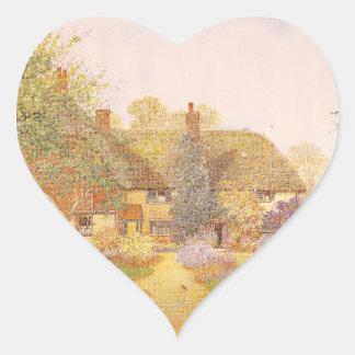 Trädgårds- konst för vintage - Matthews, James Hjärtformat Klistermärke