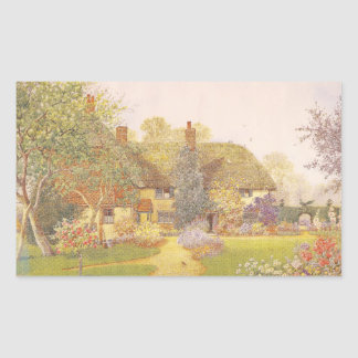 Trädgårds- konst för vintage - Matthews, James Rektangulärt Klistermärke