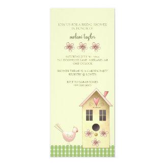 Trädgårds- partyinbjudningskort för möhippan 10,2 x 23,5 cm inbjudningskort