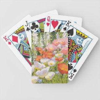 Trädgårds- pastell spelkort