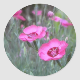 Trädgårds- platser - stugaPinks Rund Klistermärke