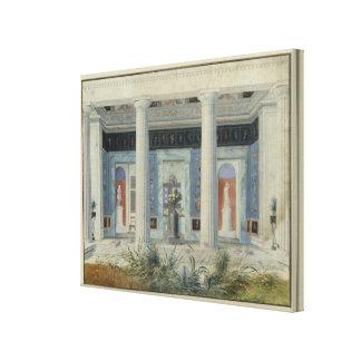 Trädgårds- portico, c.1834 canvastryck
