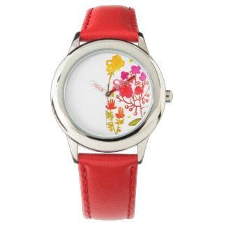 Trädgårds- söt watche för vattenfärg armbandsur