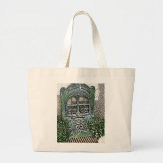 Trädgårds- spisgaller för vintage jumbo tygkasse