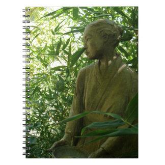Trädgårds- staty för japan anteckningsbok med spiral