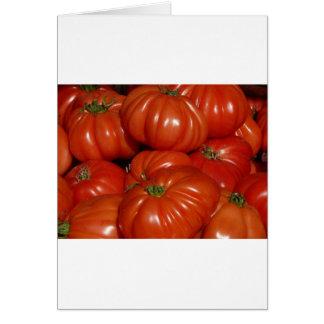 Trädgårds- tomat för Heirloom Hälsningskort