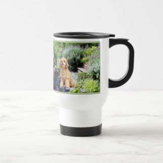 Trädgårds- travel mug för pudel kaffe mugg