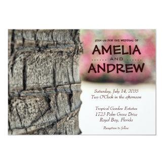 Trädgårds- tropiskt bröllopkort för palmträd 12,7 x 17,8 cm inbjudningskort
